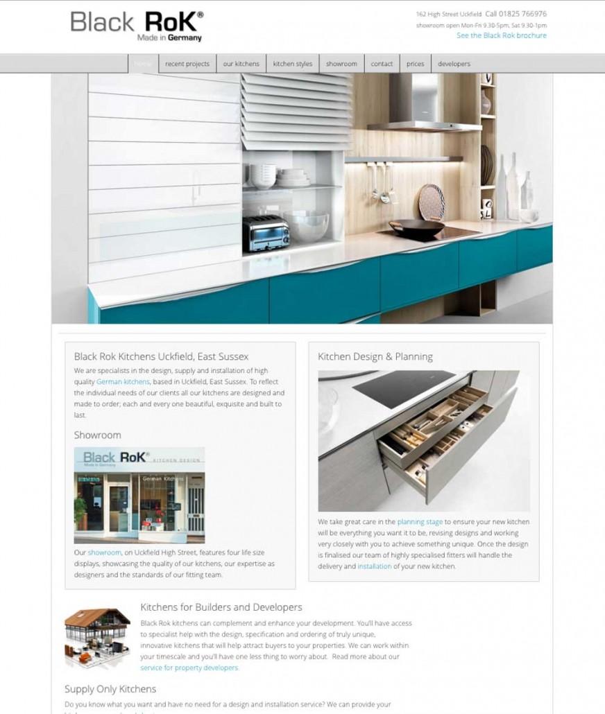 Black rok kitchen design neesh web design heathfield for Kitchen design uckfield